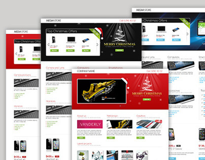 Landing Page for Christmas Offer or Portfolio