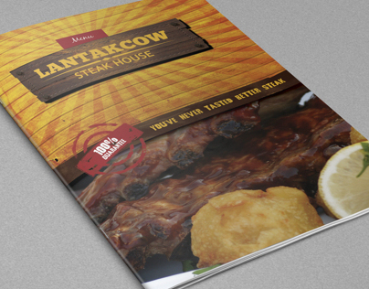 Lantakcow Steak House Menu Brochure