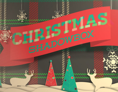 Christmas Shadow Box After Effects template