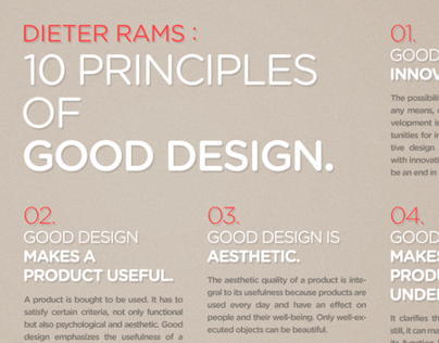 DIETER RAMS 10 PRINCIPLES OF GOOD DESIGN POSTER