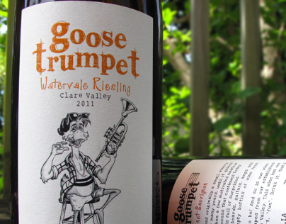 Goose Trumpet Wine Label