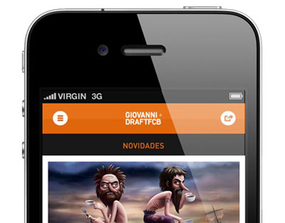 Proposed mobile site for Giovanni+DraftFCB