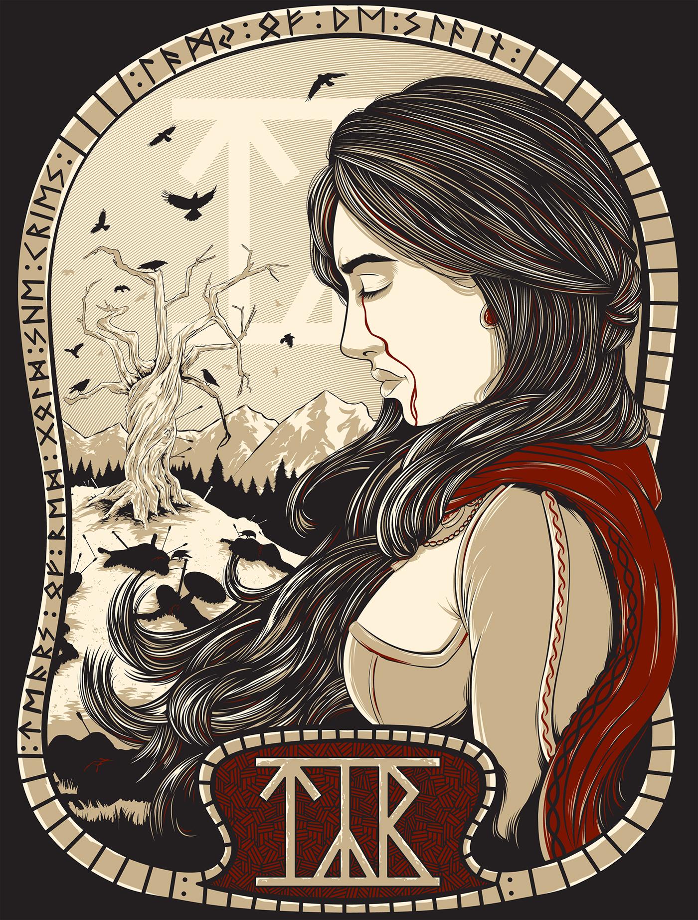Týr - Lady of the Slain T-Shirt
