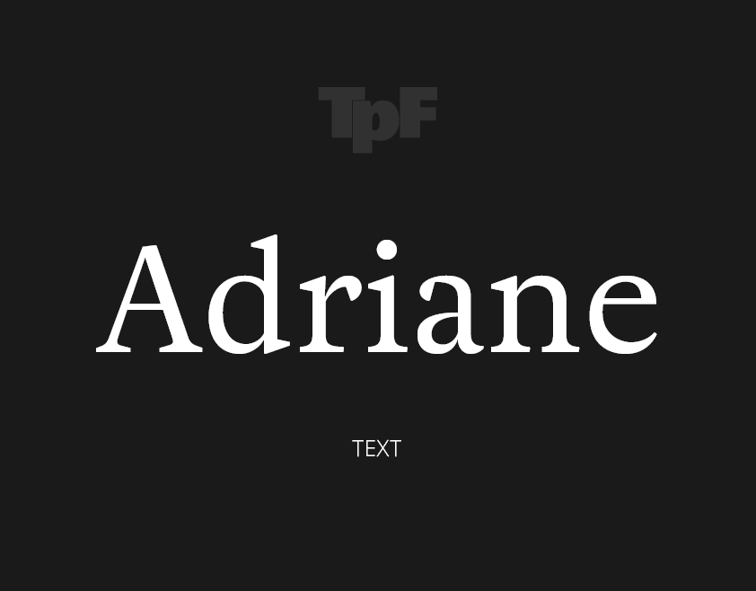 Adriane Text Family