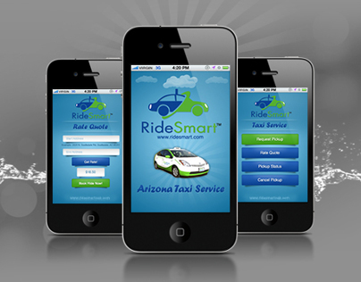 UI/UX Taxi Ride