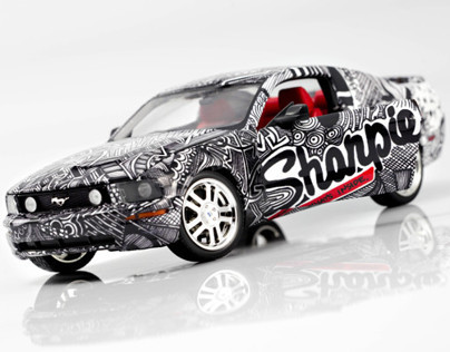 Sharpie Mustang Car Wrap