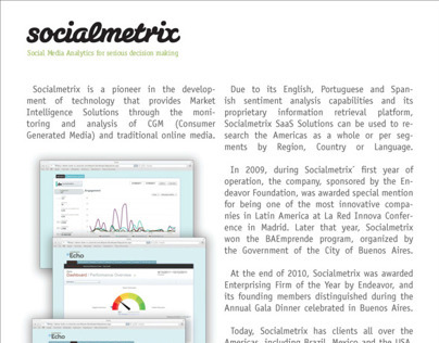 Socialmetrix One Pager