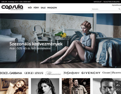Capsula Fashion Store website