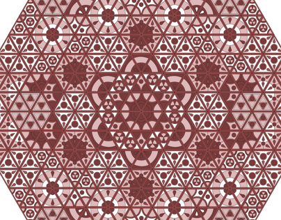 symmetrical geometric pattern