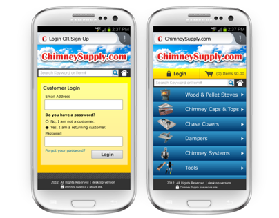 Mobile Site Design & Layout