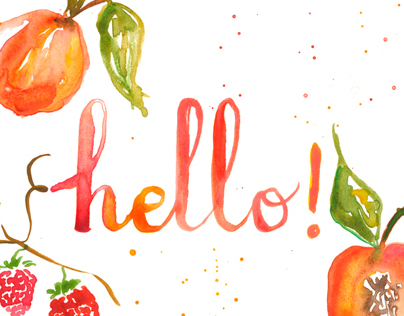 Watercolor Illustration & Hand Lettering