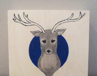 mounted deer