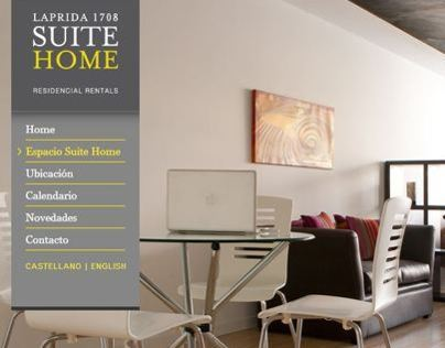 Laprida Suite Home | website design