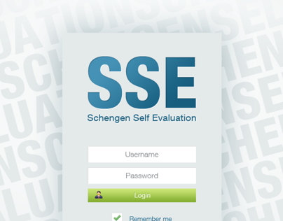 Schengen Self Evaluation website
