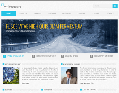Corporate Blue (Free PSD Template)