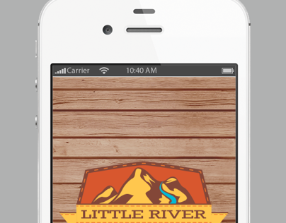 iPhone App Mockup for Little River Trading Company