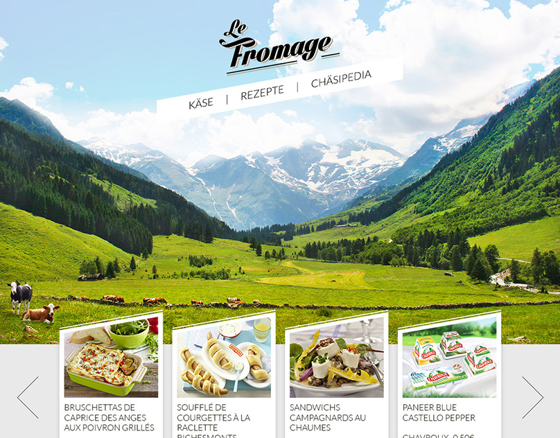 Le Fromage - Logo and Webdesign proposal
