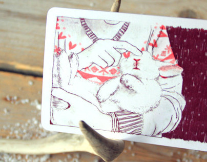 Anne van den Berg Illustraties ➳ Christmas card