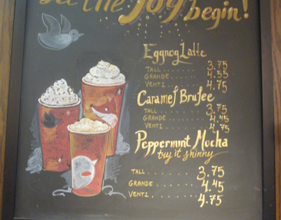 Starbucks Chalkboard Signs