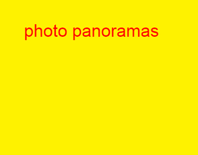 Photo Panoramas
