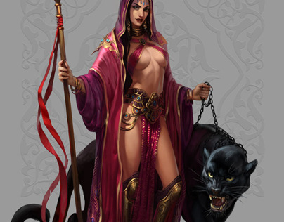 Girl with panther - promo concept art by Ketka