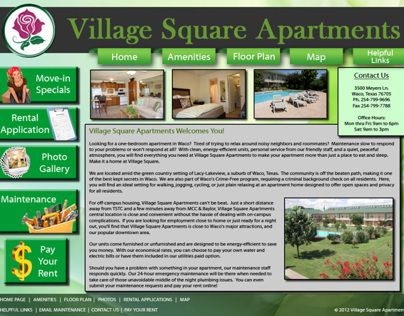 Village Square Web Site Redesign