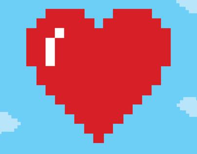 Pixel Wedding Invitations