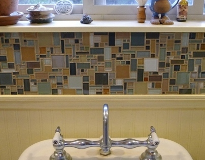 Geometrical Grammar Backsplash