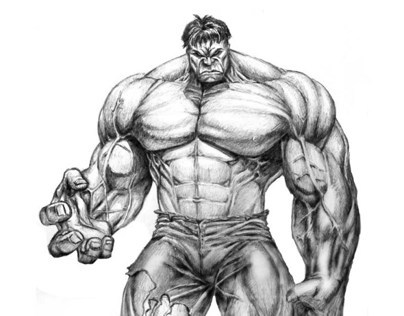 Illustration of the Hulk