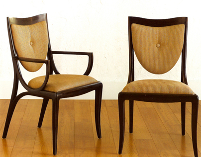 Moser Sabina Collection: Side and Arm Chair
