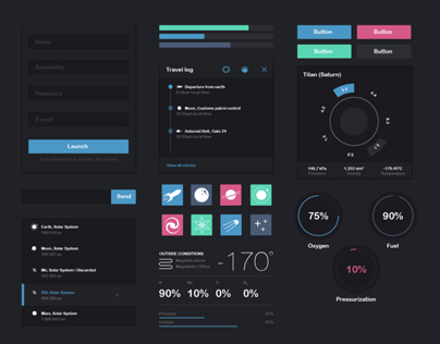 Dark Space UI Kit