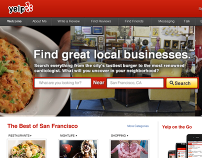 Yelp Home Page Optimization