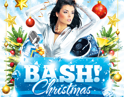 Christmas Bash Flyer, PSD Template