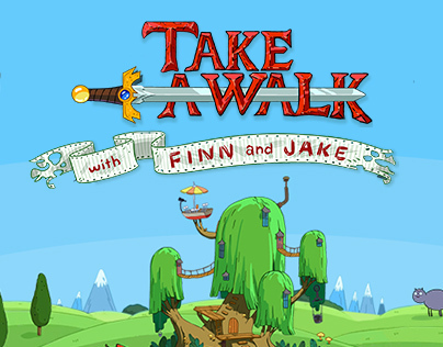 Take a walk with Finn and Jake