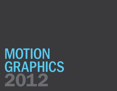 Motion Graphics 2012