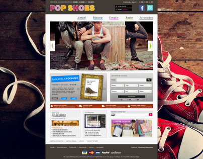Pop shoes website