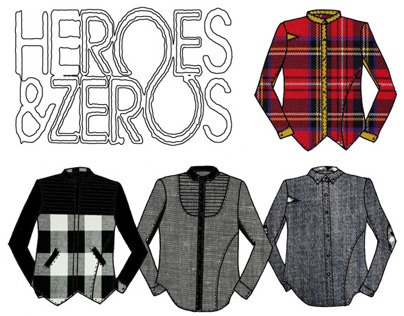 Heroes and Zeros Menswear shirts