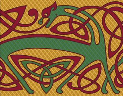 Celtic ornamented lace