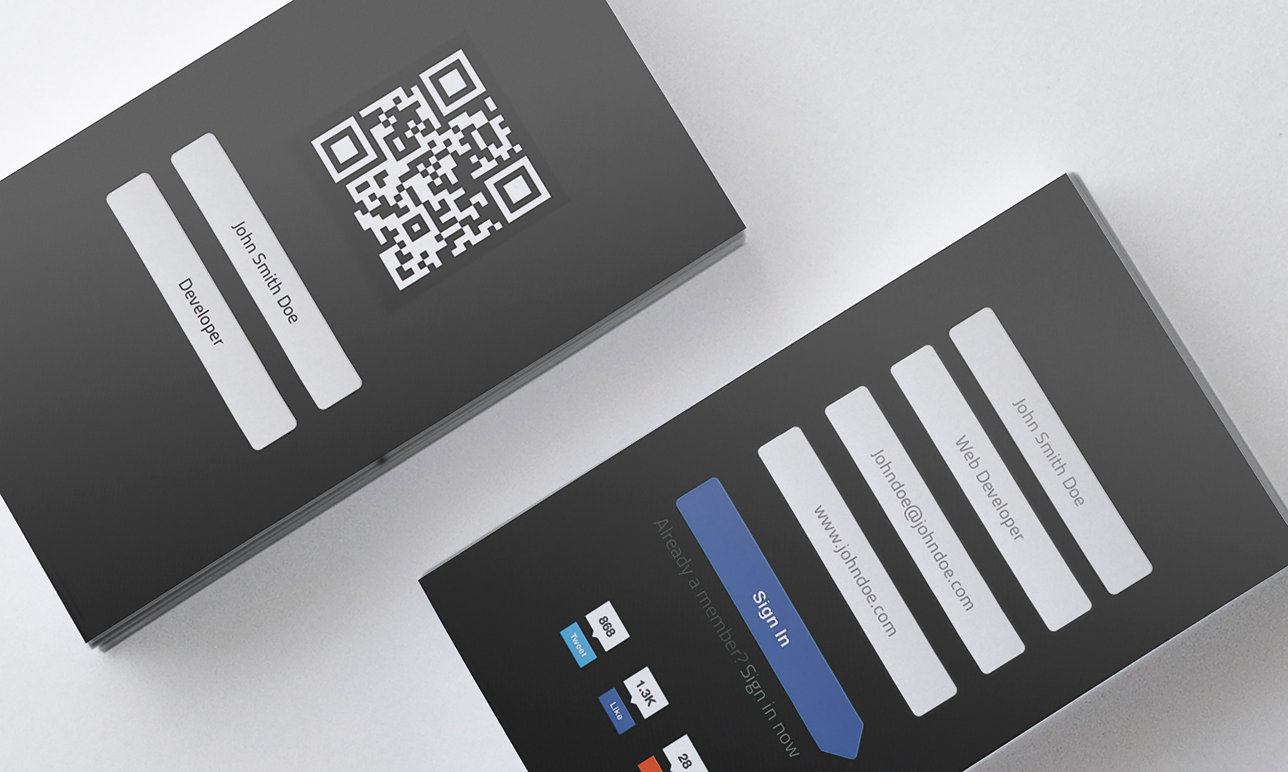 Sign Up Business Card