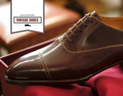 Vintage Shoes Logo & Ad
