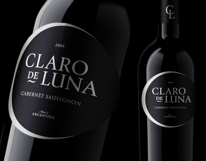 Claro de Luna - wine label design