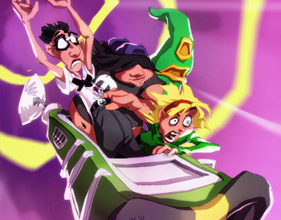 Day of the Tentacle - Animated illustration