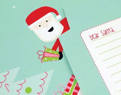 Dear Santa Fold and Mail Stationery