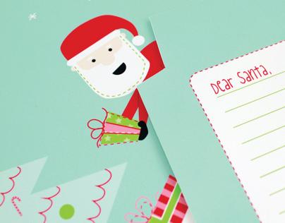 Dear Santa Fold and Mail Stationery
