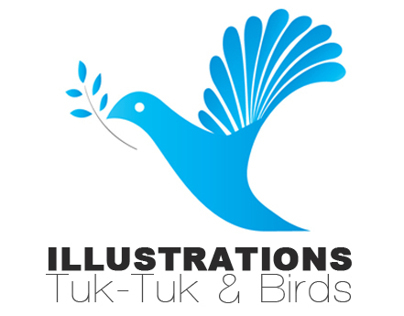 Illustrations - Tuk-Tuk & Birds