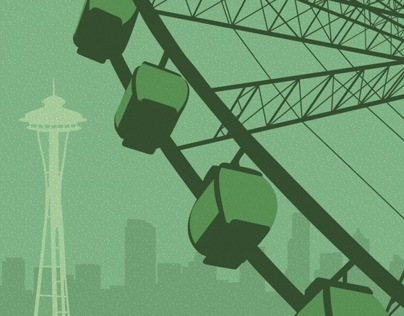 Seattle Poster & Postcard Design