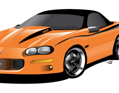 Camaro Z28 Vector Illustration