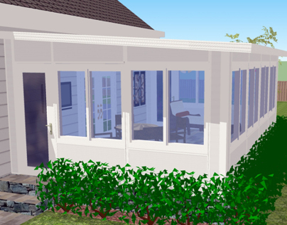 SketchUp 3D Modular Room Model