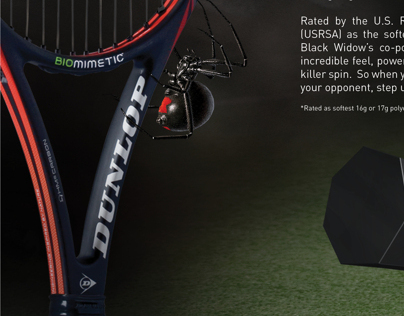 Dunlop Tennis Black Widow String Ad