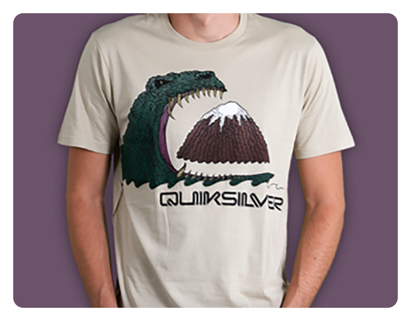 """Mountain Attack"" shirt design for Quiksilver Clothing"